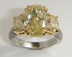 I Love Jewelry 3 stone Fancy Yellow Diamond Ring I Love Jewelry, Jewelry Box, Fine Jewelry, Jewelry Design, Pretty Rings, Beautiful Rings, Yellow Diamond Rings, Yellow Diamonds, Pink Sapphire