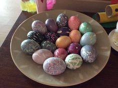 Pisanka eggs, pisankateknik Easter Eggs, Breakfast, Food, Morning Coffee, Essen, Meals, Yemek, Eten