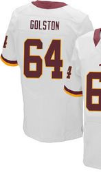 "$78.00--Men's Nike Washington Redskins #64 Kedric Golston Elite White NFL Jersey,Free Shipping! Buy it now:click on the picture, than click on ""visit aliexpress.com"" In the new page."