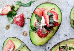 Baked Avocados with Strawberry Salsa