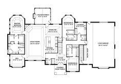 one story Open Floor Plan Design Ideas | Story Retreat, Open Floor Plan (HWBDO76114) | Craftsman House Plan ...