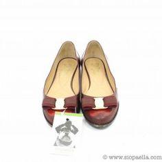 Salvatore Ferragamo Wine Flat Shoes- UK Size 4  Shop 24/7 on www.siopaella.com  We ship worldwide