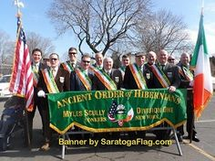 Custom Applique Stitched AOH (Ancient Order of Hibernians) Parade Banner-- order today!