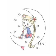 Kawaii Chibi, Cute Chibi, Anime Chibi, Sailor Moon Usagi, Sailor Moon Art, Girly Drawings, Easy Drawings, Pretty Art, Cute Art