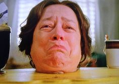 Kathy Bates as . just a head . on American Horror Story Twisted Series, Role Call, Scary Shows, Ahs Characters, Tate And Violet, American Horror Story Coven, Drake And Josh, Dark And Twisted, Horror Show