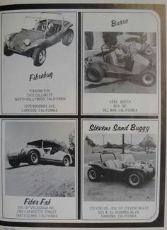Four cool dune buggy ads