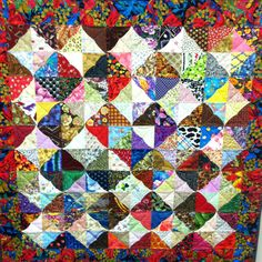 Sculptures Squares quilt/wall-hanging made by Marcylka