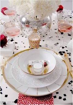At Home: Dining Room Delight. So celebratory chic! movelifestyle.com