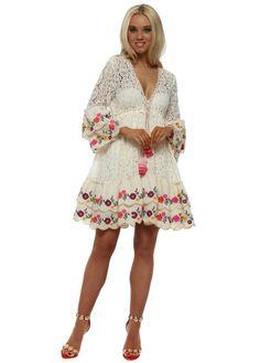 61a105f410 Fleur Ivory Lace Layered Dress Luxe Clothing, Kaftan, Beachwear, Lace  Dress, Layers