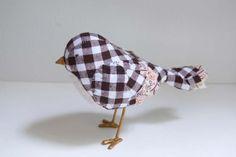 Bird in plaid to embellish? @Gail Regan Truax://french-knot.tumblr.com
