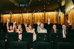Movie theater wedding!! I definitely considered doing this. This one is very well done.