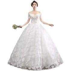 in tulle Abito da sposa da donna con spalle scoperte Snow Lotus