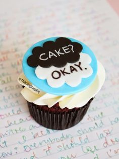 The Fault In Our Stars Cupcake Tutorial by TheCakingGirl