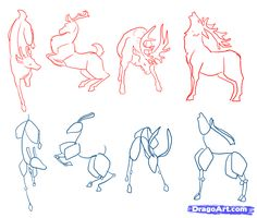 steps by step to drawing a deer | How to Draw Deer, Drawing Deer, Step by Step, forest animals, Animals ...