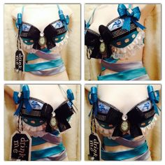 Alice in Wonderland Rave Bra -- Size 34B -- Original Electronic Couture on Etsy, $50.00