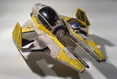 PAPERMAU: Star Wars - ETA-2 Jedi Starfighter Paper Model - by Paper Replika