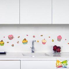 Vinilos Decorativos - muffin Coloridos CUPCAKES, pastelitos, swett. WALL STICKER DECOR