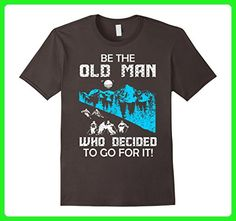 Mens Be The Old Man Who Decided To Go For It Skiing Tshirt XL Asphalt - Sports shirts (*Amazon Partner-Link)