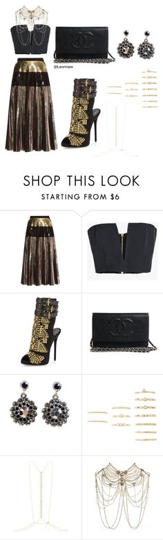 """""""..."""" by leonnaw ❤ liked on Polyvore featuring Proenza Schouler, Balmain, Giuseppe Zanotti, Otazu, Forever 21, Arme De L'Amour and Erickson Beamon"""