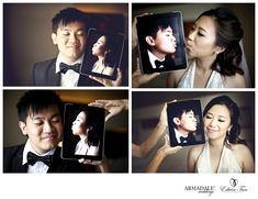 Image of the day : Virtual Kisses nice idea for pre nuptial pictures
