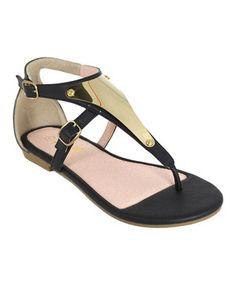 b01fa5c945a3 Anna Shoes Black Metallic Vita Sandal