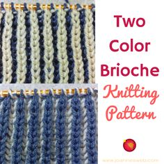 One of the most popular knitting patterns. Make anything and reversible. : One of the most popular knitting patterns. Make anything and reversible. Fun for any knitting project. The Two Color Brioche Knitting Pattern. Knitting Videos, Crochet Videos, Knitting Stitches, Knitting Projects, Stitch Patterns, Knitting Patterns, Spinning Yarn, How To Purl Knit, Double Knitting