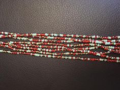 Three strands of Waist Beads Beads are customarily tied on by the wearer, it`...