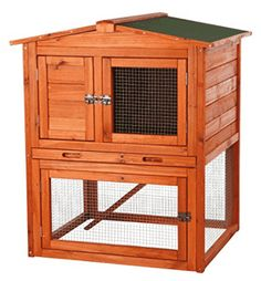 Product Description TRIXIE's Small Rabbit Hutch with Peaked Roof is ideal for small groups of animals such as rabbits and guinea pigs. Solid wood construction, glazed pine finish, and our finest materials mean this hutch will endure years of use wi Small Rabbit, Pet Rabbit, Outdoor Rabbit Hutch, Rabbit Enclosure, Rabbit Life, Small Animal Cage, Small Animals, Rabbit Cages, Bunny Cages