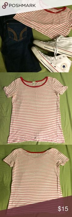 Forever 21 striped shirt Worn only a handful of times. Great condition! Forever 21 Tops Tees - Short Sleeve