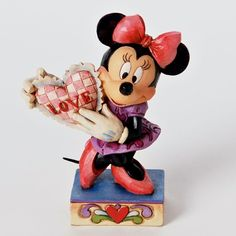 My Valentine-Minnie Mouse With Heart Figurine