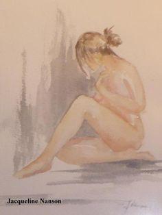 Poème Nudité... sur une aquarelle de Jacqueline Nanson - Arts et Lettres -