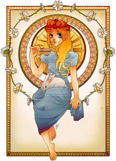 20s-Inspired Cartoon Princesses - Hannah Alexander's Disney Princess Art is Art Nouveau-Styled (GALLERY)