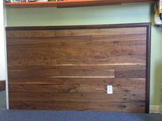 Hallmark Alta Vista Collection Historic Walnut Engineered Hardwood 7-1/2in width. Flooring installed on a wall.