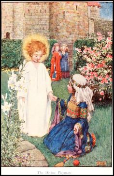 """Eleanor Fortescue Brickdale - The Story of Saint Elizabeth of Hungary - """"The divine playmate"""""""