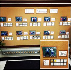 Co-created number line from @ourkindergartenfamily Numbers Kindergarten, Teaching Kindergarten, Full Day Kindergarten, Math Numbers, Preschool Math, Kindergarten Calendar, Literacy And Numeracy, Subitizing Activities, Math Centers