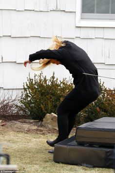 Intrepid: The actress was filmed doing her own stunts in a dramatic sequence of shots. Stunt Doubles, Claire Danes, Stunts, Homeland, Actresses, Film, Female Actresses, Movie, Waterfalls