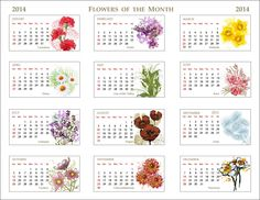 2014-Flowers-of-Month-Calendar