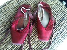 Awesome antique historical red ballet shoes Cleveland Ballet 1940's