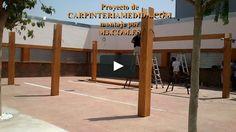 Montaje pérgolas y porches carpintería para restaurantes PARTE OCTAVA MONTAJES M3