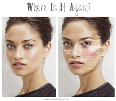Learn the makeup terms used for different areas of the face and the products used to enhance them www.beautypointofview.com