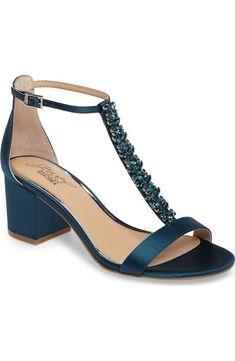 3b140918e7d7 Jewel Badgley Mischka Lindsey Embellished T-Strap Sandal (Women)
