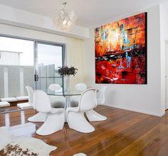 Arte de pared contemporánea gran lienzo por ModernArtHomeDecor