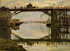 The Wooden Bridge (1872) Claude Monet