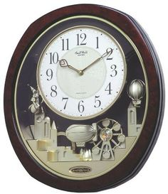 """[""""Encased in a burl wood-like case, the Joyful Land plays 18 superior quality melodies with 6 of them being Hymns. The clock is equipped with a light sensor that prevents it from playing at night or in a dark room. Clock is battery quartz operated.Product Features<\/strong>Volume Control <\/li> Demonstration Button <\/li>Night Sensor <\/li>ON\/OFF Switch<\/li> Swarovski Crystal <\/li> 2-C battery<\/li>14.3 in. W x 2.8 in. D x 16.1 in.…"""