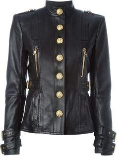 You'll find a great selection of designer leather jackets for women at Farfetch. Designer Leather Jackets, Best Leather Jackets, Cute Jackets, Jackets For Women, Army Jackets, Outerwear Jackets, Balmain Jacket, Cyberpunk Fashion, Kpop Fashion Outfits