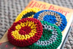 Harry Potter House Themed Crochet Coasters