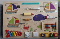 Busy Board Sea Activity Board Sensory Board | Etsy
