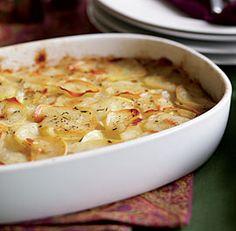 Potato, Thyme & Olive Oil Gratin Recipe #passover #recipes