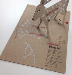Rudoph Reindeer direct mail - christmas mailer for Broadbase design.