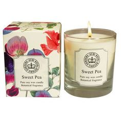 Kew Sweet Pea Botanical Candle - candles & candlesticks
